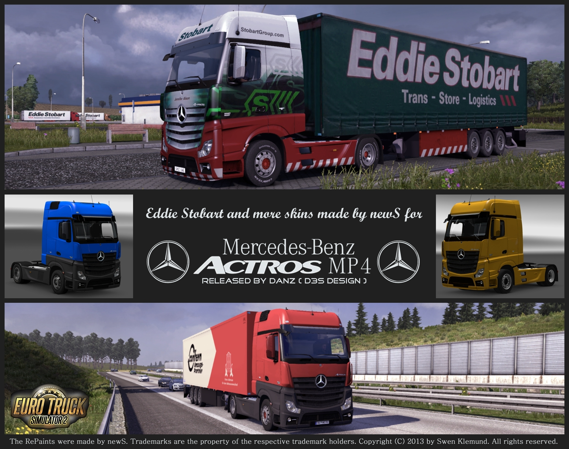 mb actros mp4 eddie stobart and more skins by news scs. Black Bedroom Furniture Sets. Home Design Ideas